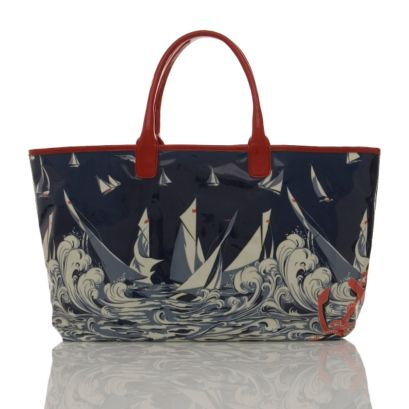 Shop Stella | P-SAILBOAT-PRINT-BEACH-SHOPPING-BAG | Stella McCartney